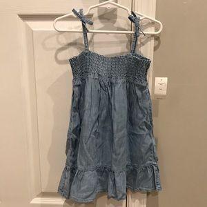 Gap denim chambray smocked dress